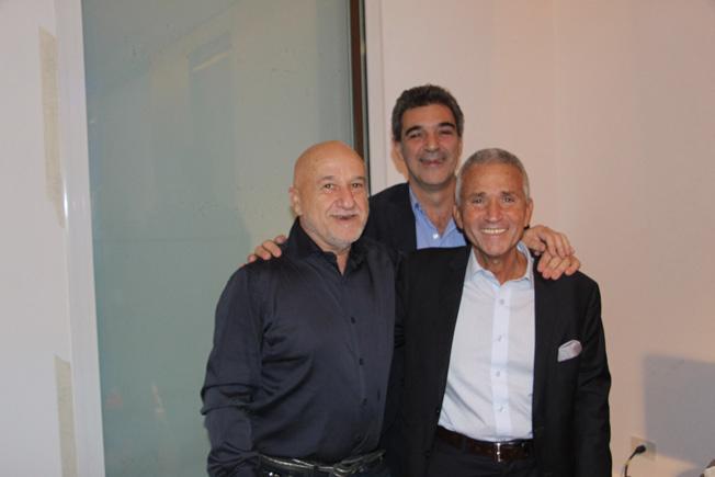 Dr. Pablo Marantz junto con el Dr. Daniel Cafici y el Dr. Jorge Hammer
