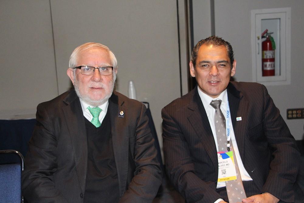 Dr. Miguel Ángel Pinochet y Dr. Marcelo Galvez de Chile