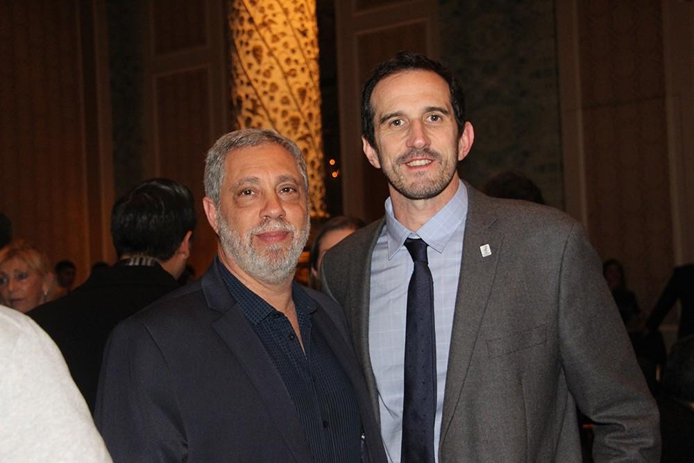 Daniel Mysler Presidente de la Sociedad Argentina de Radiología y Javier Rodríguez Lucero Presidente de la SIBIM