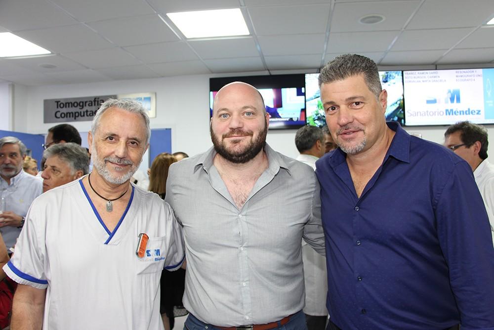 Dr. Mario Montoya, Dr. Braian Yampolsky y Diego Aler Peña