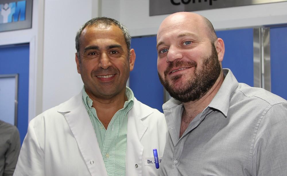 Dr. Daniel Zivano, Jefe del departamento de cardiología del Sanatorio Julio Mendez y Braian Yampolsky