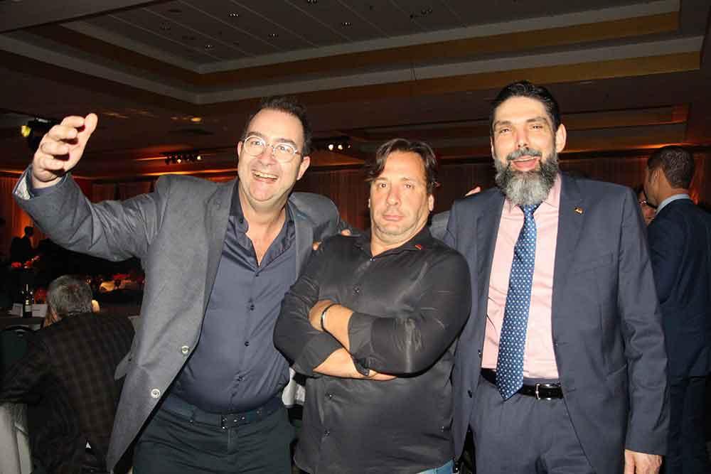Dr. Mario Pelizzari, Dr. Alejandro Tagliani y Dr. José Rocha