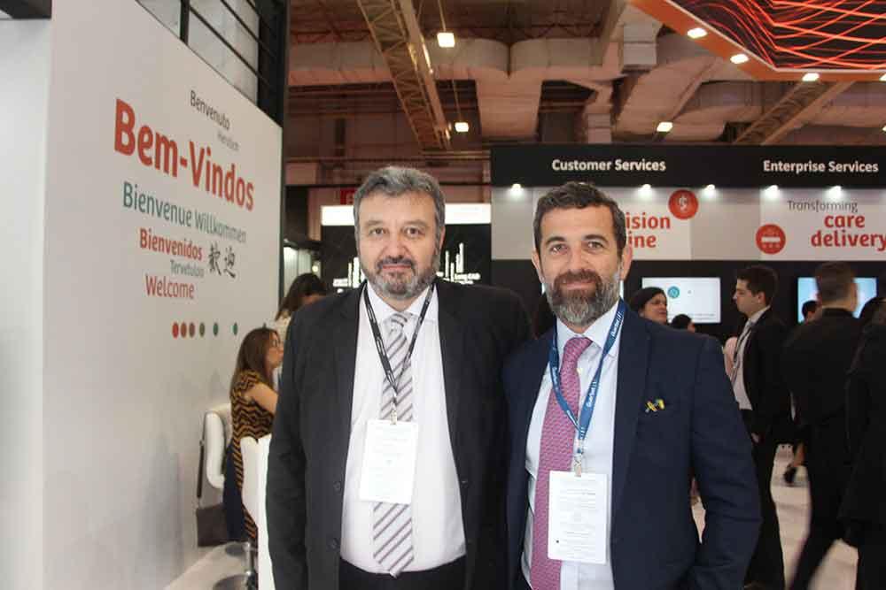 Marcelo Luraschi de Siemens Healthineers y Dr. Eduardo Eyheremendy del Htal. Alemán