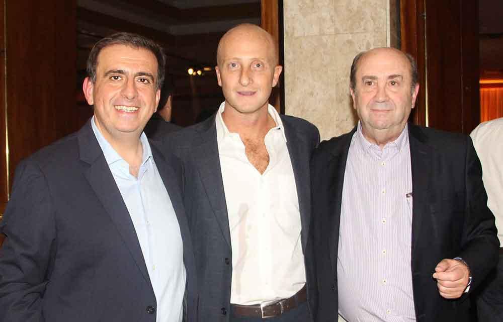 Dr. Luis Fajre, Dr. Ahualli y Dr. Sergio Moguillansky