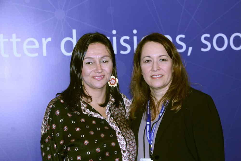 Paula Grisales de la ACR y Lisette Carrara de Konica Minolta